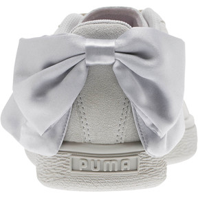 Thumbnail 4 of Suede Bow Galaxy Women's Sneakers, Gray Violet-Puma Silver, medium