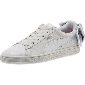 Thumbnail 1 of Suede Bow Galaxy Women's Sneakers, Gray Violet-Puma Silver, medium