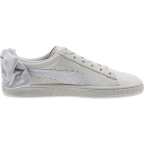 Thumbnail 3 of Suede Bow Galaxy Women's Sneakers, Gray Violet-Puma Silver, medium