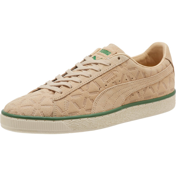 Suede Classic Lux Sneakers, Pebble-Amazon Green-Whisper, large