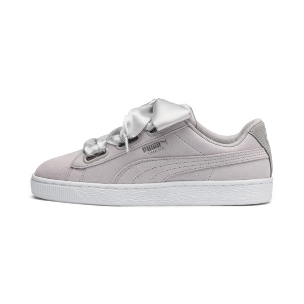 Suede Heart Galaxy Women's Sneakers, Gray Violet-Puma Silver, large