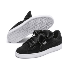 Thumbnail 3 of Suede Heart Galaxy Women's Shoes, Puma Black-Puma Silver, medium