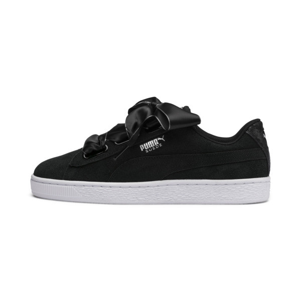 Suede Heart Galaxy Women's Shoes, Puma Black-Puma Silver, large