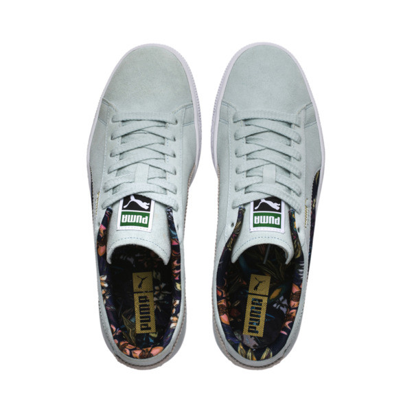 Suede Garden Sneakers, Light Sky-Puma White, large