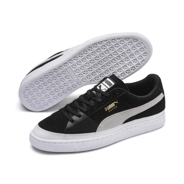 Suede Skate Sneakers, Puma Black-Puma White, large