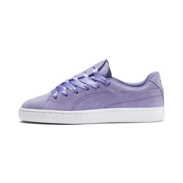 Suede Crush Women's Sneakers, Sweet Lavender, large