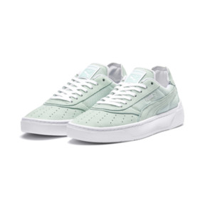 Thumbnail 3 of Cali-0 Palm Springs Trainers, Fair Aqua-PumaWhite-Puma Wht, medium