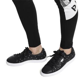 Thumbnail 2 of Basket Studs Women's Sneakers, Puma Black-Puma Silver, medium