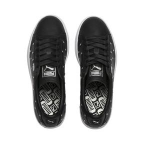 Thumbnail 7 of Basket Studs Women's Sneakers, Puma Black-Puma Silver, medium
