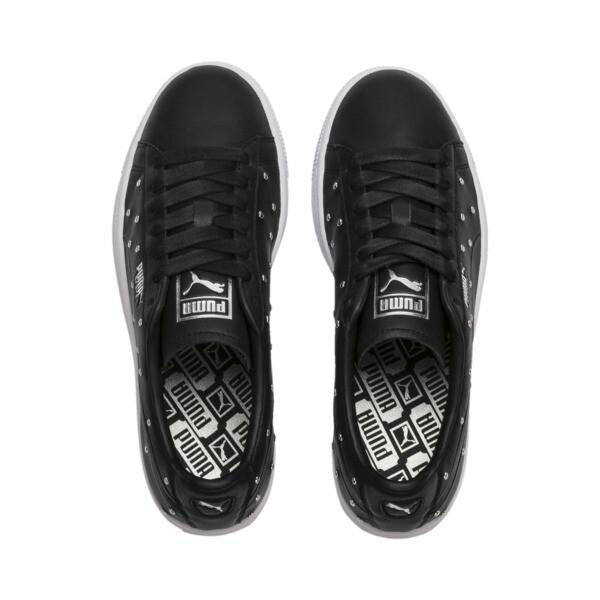 Basket Studs Women's Sneakers, Puma Black-Puma Silver, large