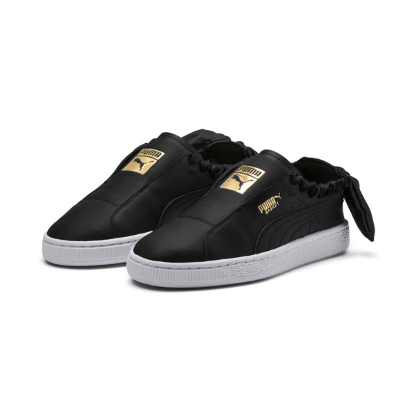 PUMA Basket Twist Women's Trainers, Puma Black-Puma Team Gold, large