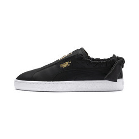 Thumbnail 1 of PUMA Basket Twist Women's Trainers, Puma Black-Puma Team Gold, medium