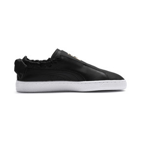 Thumbnail 6 of PUMA Basket Twist Women's Trainers, Puma Black-Puma Team Gold, medium