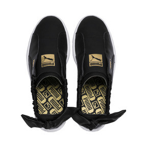 Thumbnail 7 of PUMA Basket Twist Women's Trainers, Puma Black-Puma Team Gold, medium