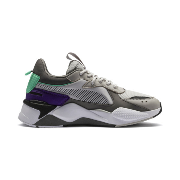RS-X Tracks Trainers, Gray Violet-Charcoal Gray, large