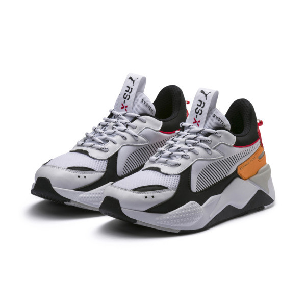 RS-X Tracks Trainers, Puma White-Puma Black, large