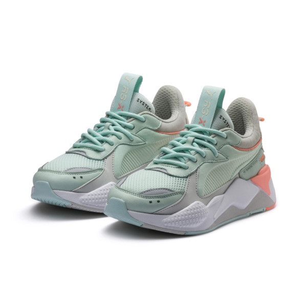 RS-X Tracks Trainers, Fair Aqua-Glacier Gray, large