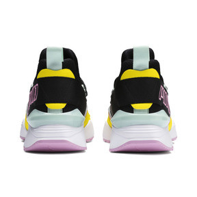 Thumbnail 4 of Basket Muse Maia TZ pour femme, Puma Black-Blazing Yellow, medium