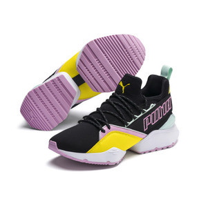 Thumbnail 2 of Basket Muse Maia TZ pour femme, Puma Black-Blazing Yellow, medium