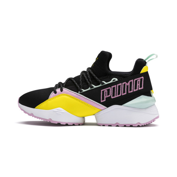 Basket Muse Maia TZ pour femme, Puma Black-Blazing Yellow, large