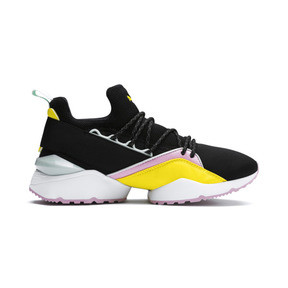 Thumbnail 5 of Basket Muse Maia TZ pour femme, Puma Black-Blazing Yellow, medium