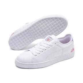 Thumbnail 2 of Basket Trailblazer Women's Sneakers, Puma White-Fuchsia Purple, medium