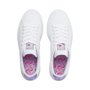 Thumbnail 6 of Basket Trailblazer Women's Sneakers, Puma White-Fuchsia Purple, medium