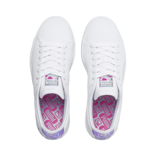 Basket Trailblazer Women's Sneakers, Puma White-Fuchsia Purple, large