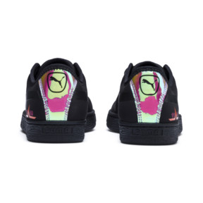 Thumbnail 4 of Basket Trailblazer Women's Sneakers, Puma Black-Fuchsia Purple, medium