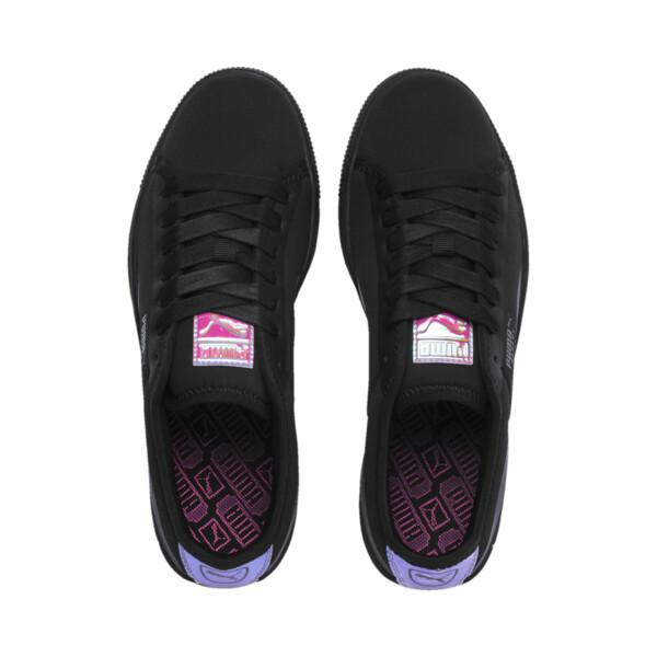 Basket Trailblazer Women's Sneakers, Puma Black-Fuchsia Purple, large