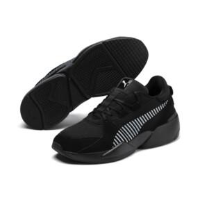Thumbnail 3 of Zeta Suede Sneaker, Puma Black-Light Sky, medium