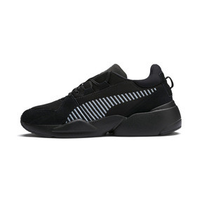 Thumbnail 1 of Zeta Suede Sneaker, Puma Black-Light Sky, medium