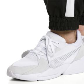 Thumbnail 3 of Zeta Suede Sneaker, Puma White-Glacier Gray, medium