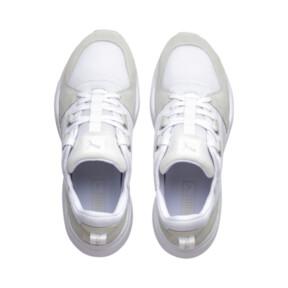Thumbnail 8 of Zeta Suede Sneaker, Puma White-Glacier Gray, medium
