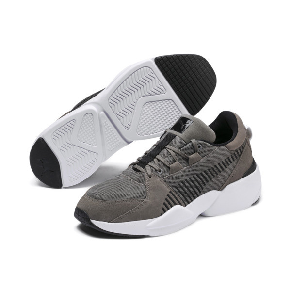 Zeta Suede Sneaker, Charcoal Gray-Puma Black, large