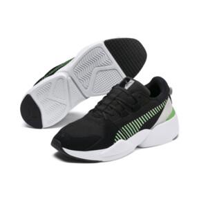 Thumbnail 2 of Zeta Suede Sneaker, Puma Black-Irish Green, medium