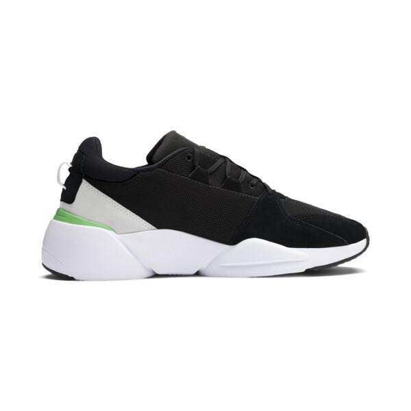 Zeta Suede Sneaker, Puma Black-Irish Green, large