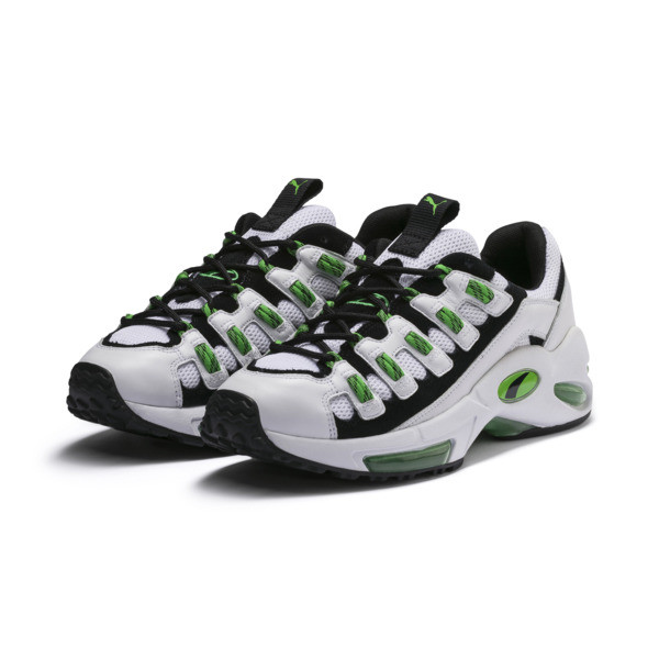 CELL Endura Sneakers, Puma White-Classic Green, large