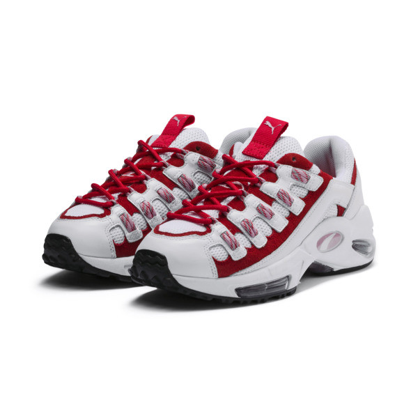 Cell Endura Trainers, Puma White-Hibiscus, large