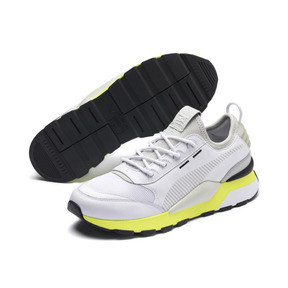 Thumbnail 3 of RS-0 TRACKS Trainers, Puma White-Fizzy Yellow, medium
