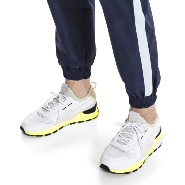 RS-0 TRACKS Trainers, Puma White-Fizzy Yellow, large