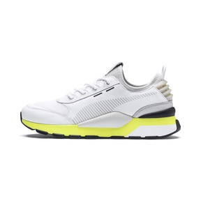 Thumbnail 1 of RS-0 TRACKS Trainers, Puma White-Fizzy Yellow, medium