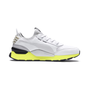 Thumbnail 6 of RS-0 TRACKS Trainers, Puma White-Fizzy Yellow, medium