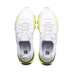 Thumbnail 7 of RS-0 TRACKS Trainers, Puma White-Fizzy Yellow, medium