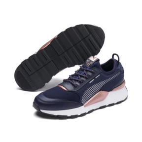 Thumbnail 4 of RS-0 Trophy Trainers, Peacoat-Puma White, medium