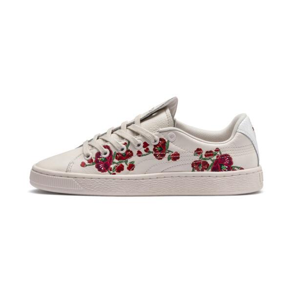 PUMA x SUE TSAI Basket Cherry Bombs Women's Sneakers, Powder Puff-Powder Puff, large