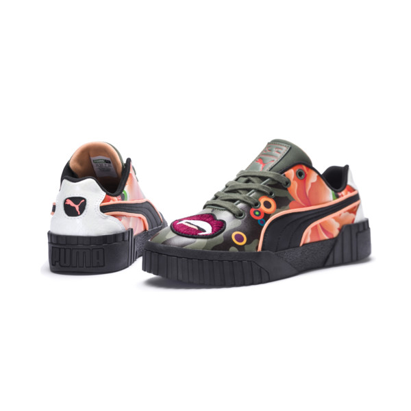 PUMA x SUE TSAI Cali 'Peonies Camo' Women's Sneakers, Puma Black-Puma Black, large