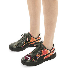 Thumbnail 2 of PUMA x SUE TSAI Cali 'Peonies Camo' Women's Sneakers, Puma Black-Puma Black, medium