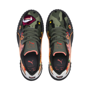Thumbnail 7 of PUMA x SUE TSAI Cali 'Peonies Camo' Women's Sneakers, Puma Black-Puma Black, medium