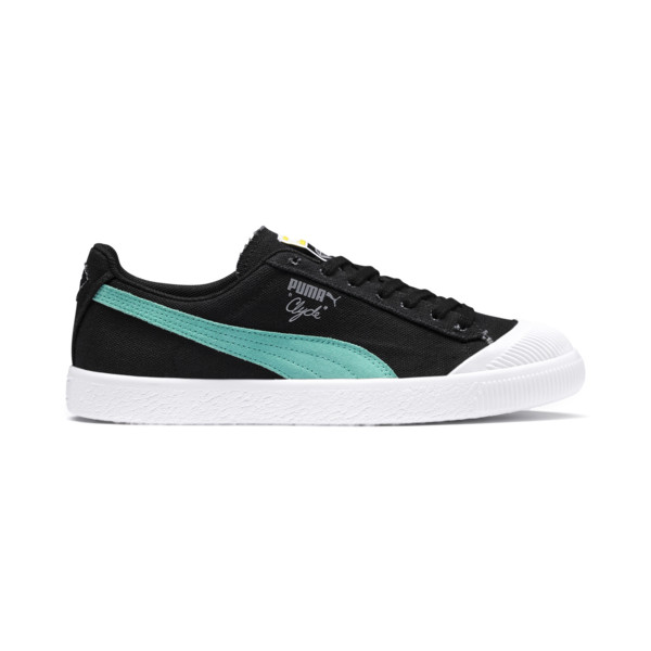 PUMA x DIAMOND SUPPLY Clyde Shoes, Puma Black-Diamond Blue, large